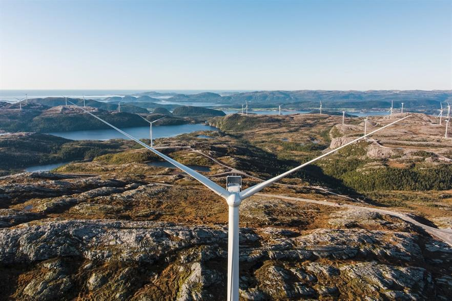 The Storheia wind farm, commissioned in the summer of 2019, produced almost 1.1TWh last year