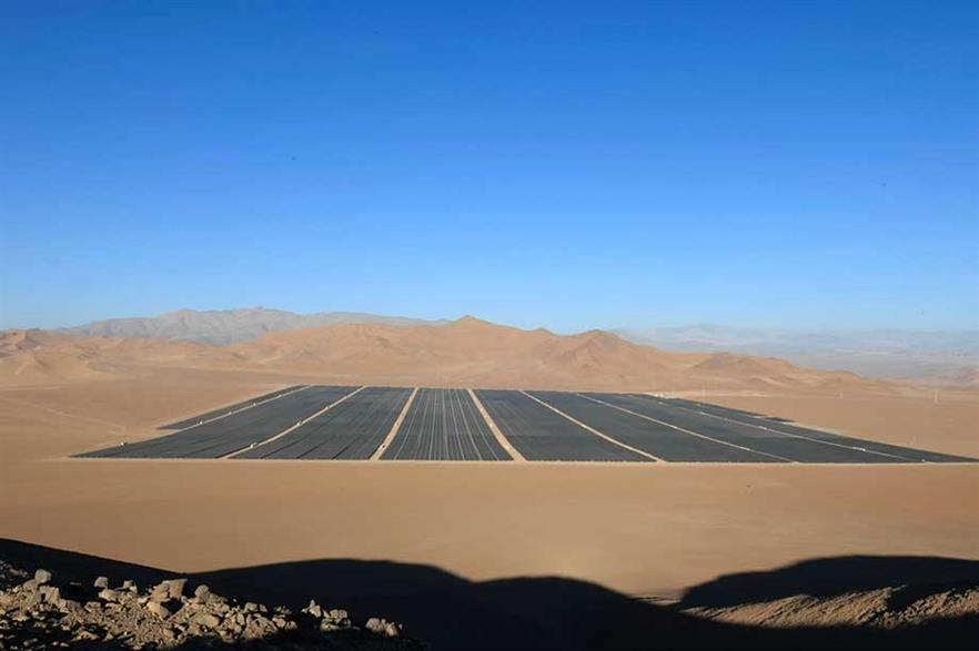 Hot competition… Chile's Atacama Desert, with 300 days of sunshine a year, is making the country very attractive to the solar industry (pic: SunEdison)