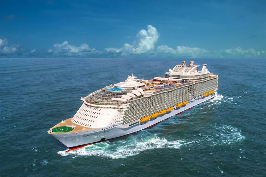 The deal will partly offset emissions from Royal Caribbean's cruise ships for 12 years