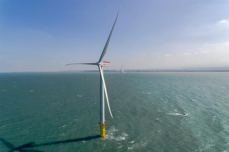 Taiwan currently has just the one online offshore project, the two-turbine Formosa pilot project (pic: Swancor)
