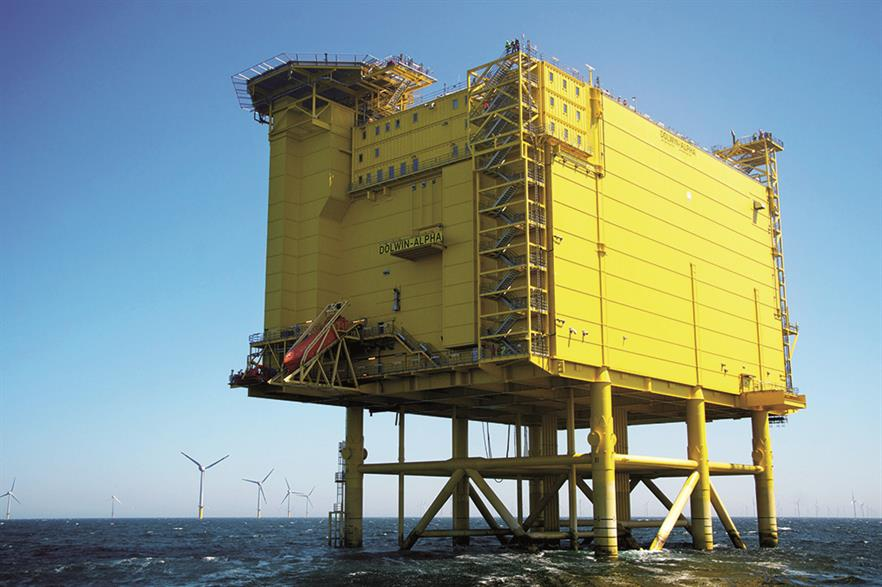 Tennet's 800MW DolWin1 grid connection starts at the Dolwin Alpha substation