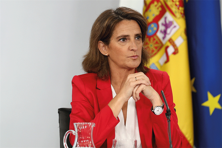 """""""We now need to shape regulation to give wind power the leading role it deserves,"""" said Teresa Ribera, minister for ecological transition (pic: Pool Moncloa/César P Sendra)"""