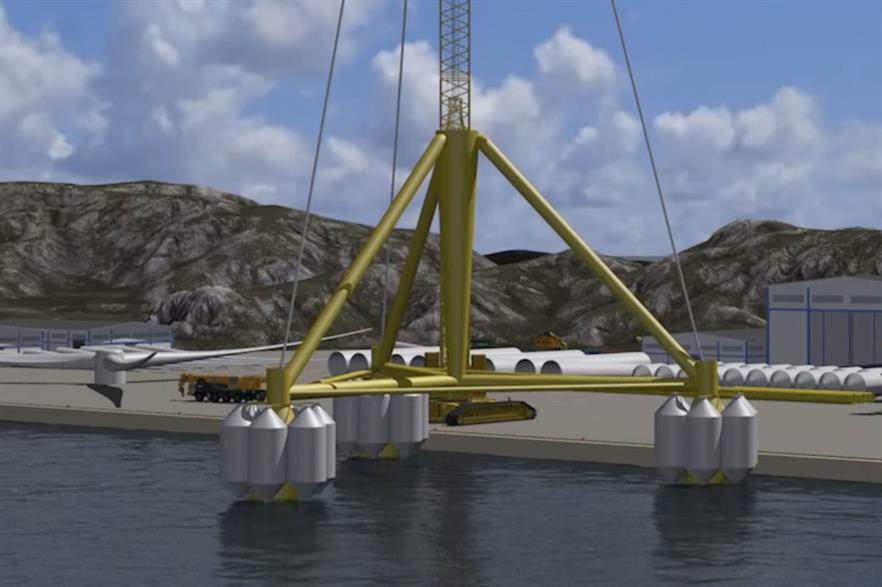 Henrik Stiesdal's TetraSpar foundation design favoured by Magellan and CIP (pic: DNV GL)