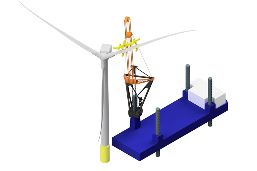 Refitting the Tetrahedron crane means vessels designed for up to 4MW turbines could install much bigger machines