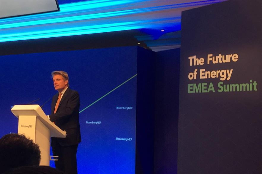 Thomas Bareiß spoke at Bloombergy New Energy Finance's Future of Energy summit in London