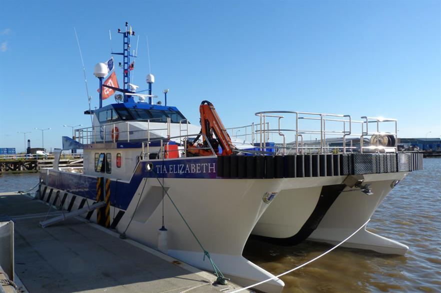 Tidal Transit's new vessel Tia Elizabeth has begun work at Sheringham Shoal