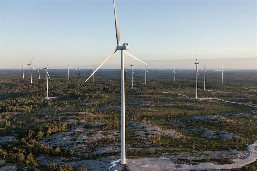 Eolus Vind's 44MW Tolvmanstegen wind farm in the west of Sweden