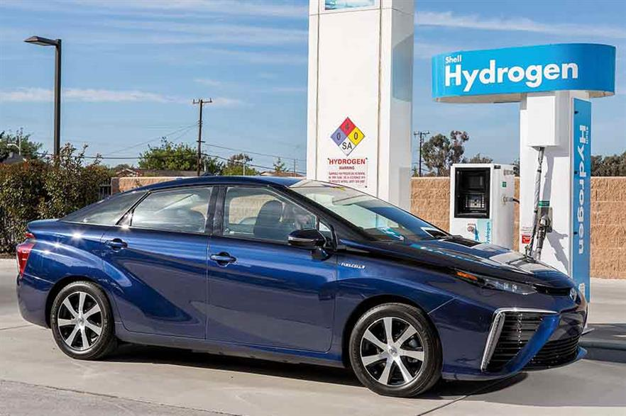 Fuel for thought… Wind and hydrogen combine for a clean driving experience (pic: Autocar)