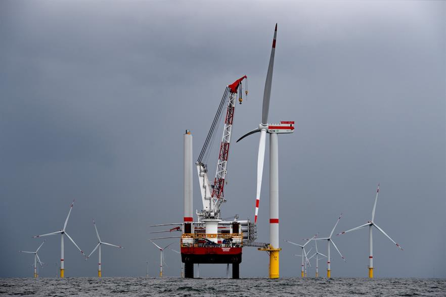 The first Senvion turbine was installed at Trianel Borkum Windpark II in August