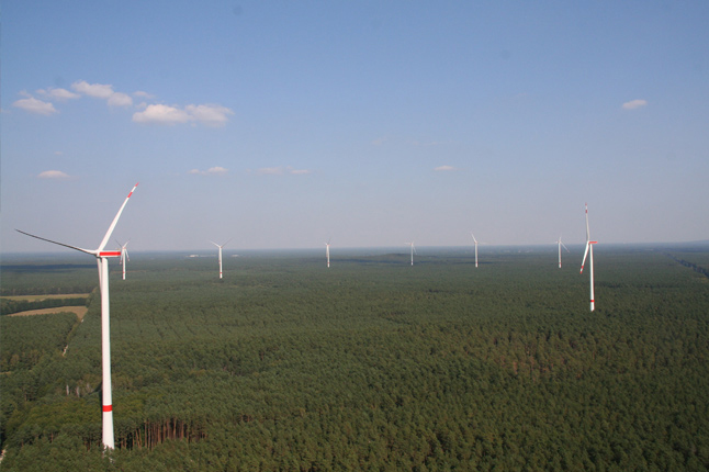 Ten Nordex N131 3.3MW turbines were installed at Uckley Nord