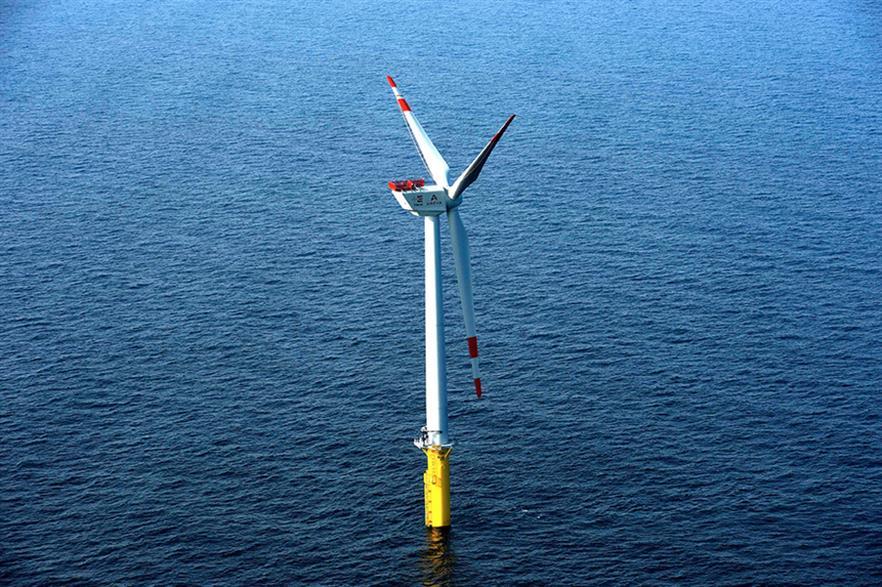 Borkum West 2 phase 1 uses Adwen M5000 5MW turbines
