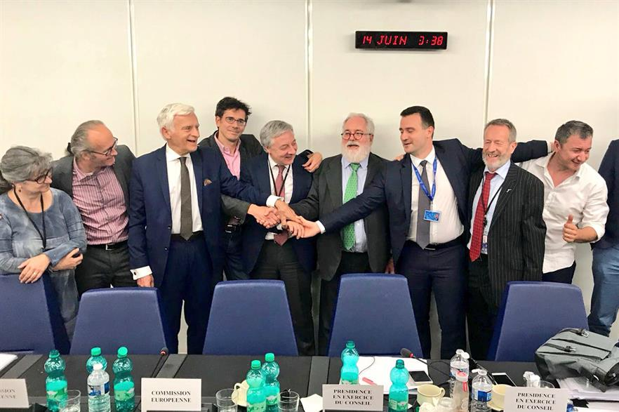 A new renewable energy target was agreed following late night negotiations (pic: Miguel Arias Cañete)