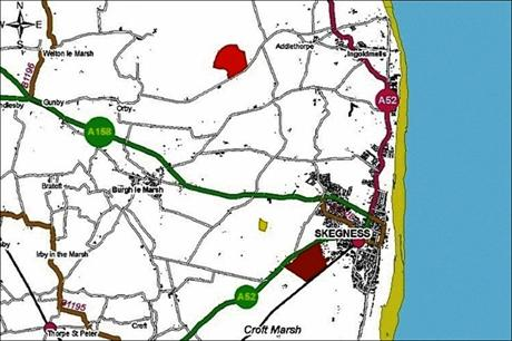 Triton Knoll's cables will make landfall at Anderby Creek, north of Skegness