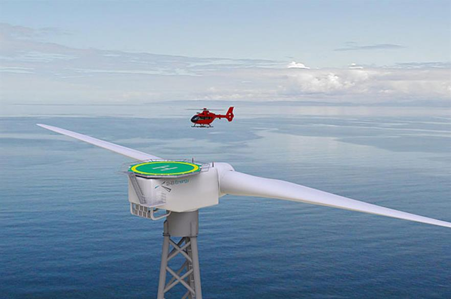 2-B Energy's 6MW two blade offshore turbine