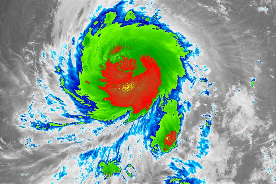 Infra-red satellite imagery of Typhoon Jebi (pic: Naval Research Laboratory/Wikimedia Commons)