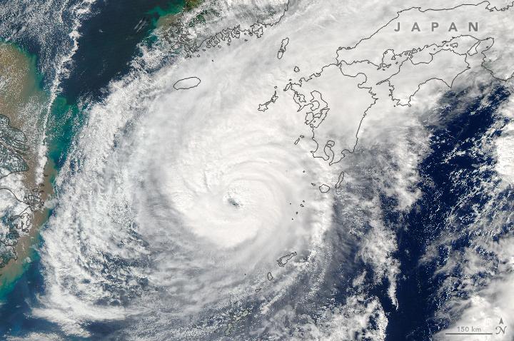 Typhoon Malakas made landfall in Japan on 19 September (Pic: Nasa Jeff Schmaltz, LANCE/EOSDIS Rapid Response)
