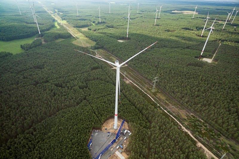 Vestas' V136-3MW turbine has a hub height of 157 metres