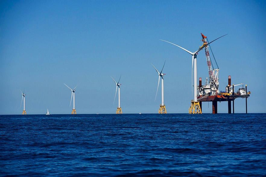 The five-turbine, 30MW Block Island project off the coast of Rhode Island (above) is the US' only offshore wind farm to date