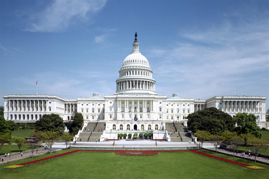 The US Capitol building where both the House of Representatives and the Senate sits