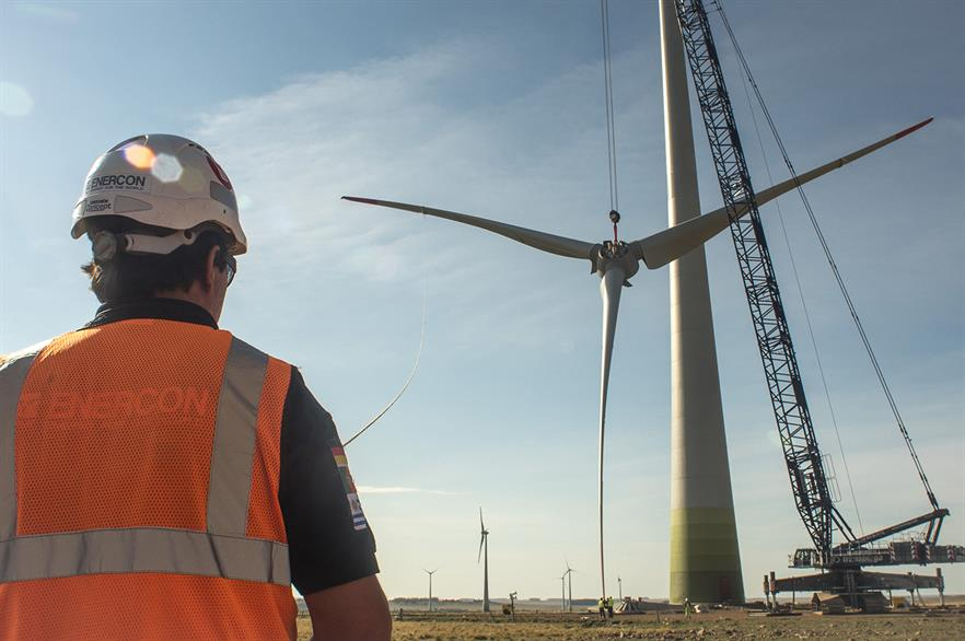 Enercon's E92 turbine will be installed at the Peralta project in Uruguay
