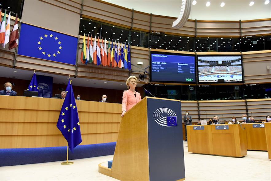 European Commission president Ursula von der Leyen made the announcement during her first State of the European Union address