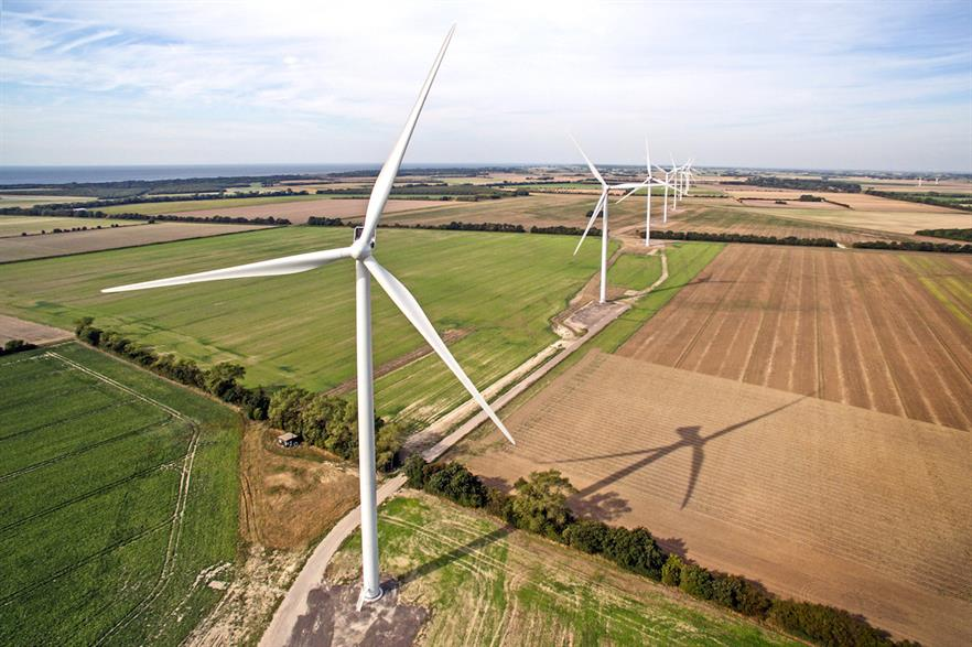 Kappel comprises six V117 turbines (pictured above at the Rødby Fjord project Denmark) and one V16 turbine
