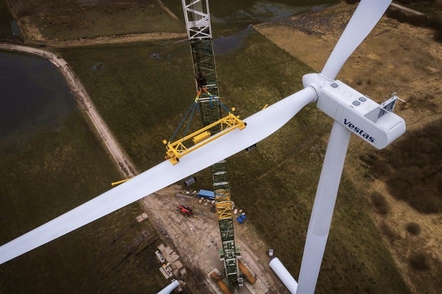 Vestas installed a prototype of its V120-2.0MW turbine at the Lem Kjær wind farm in western Jutland in Denmark in Q1 2018