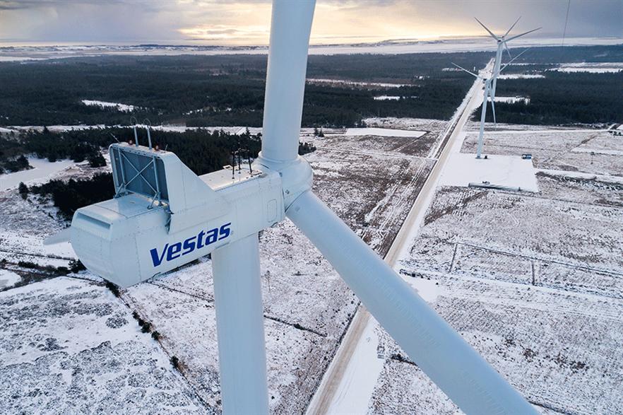 Vestas investigated after a V150-4.2MW collapsed in Seden last year (pic: Frank Boutrup Schmidt/Vestas)