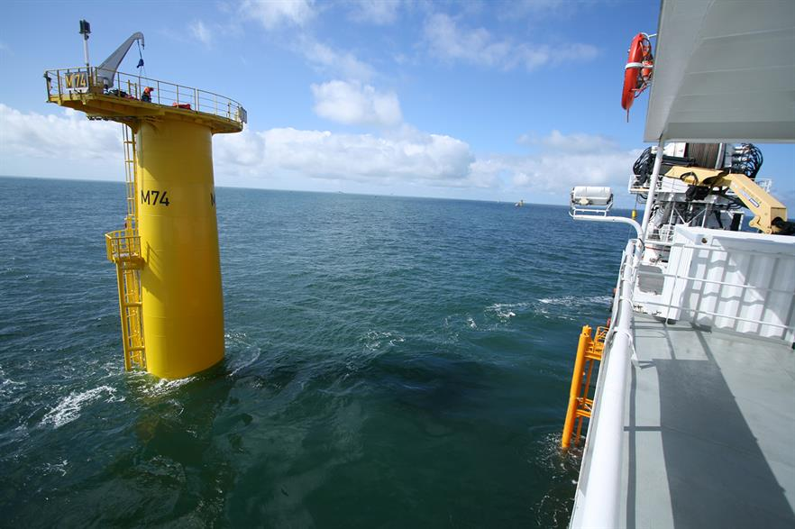 VBMS has been contracted to install the 33kV inter-array cables at Horns Rev 3