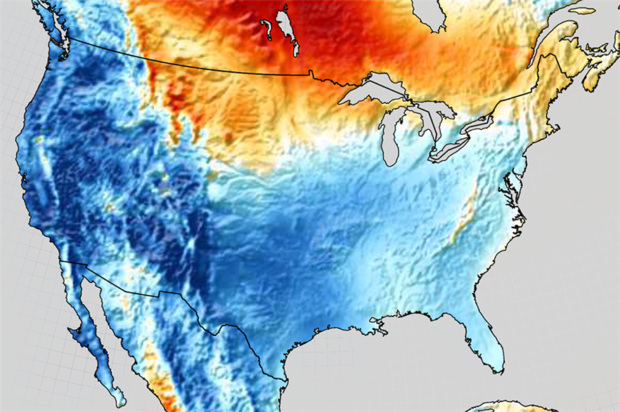 Wind speeds across western US in Q1 were lowest for 47 years (pic: Vaisala)