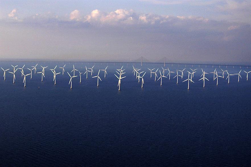 Vattenfall's 110MW Lillgrund site (above) is Sweden's largest offshore wind farm
