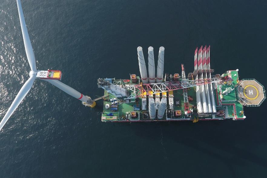 Vattenfall's Sandbank offshore wind project was completed in the first half of 2017
