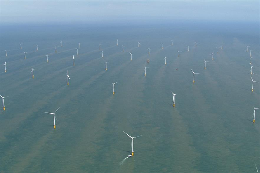 The 300MW Thanet site is located 12 kilometres off the UK's south-east coast
