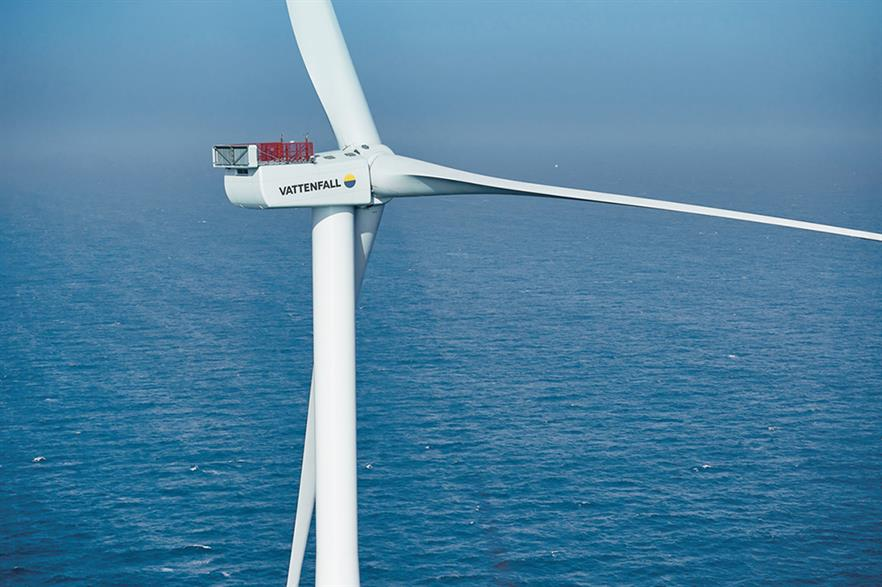 Vattenfall has given the go-ahead to build the 604.8MW Kriegers Flak offshore wind project