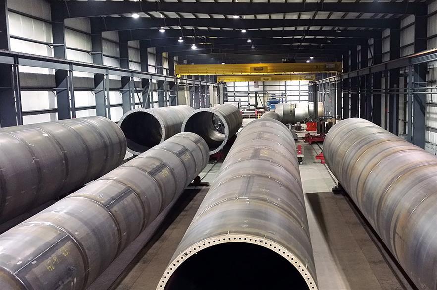 US steel fabricator Ventower produces turbine towers