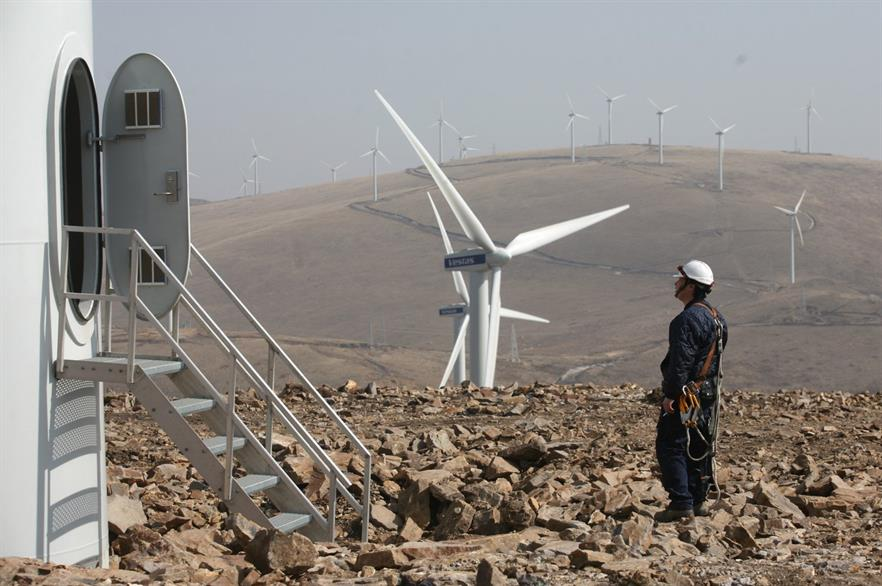 Vestas received orders from 43 different counties last year