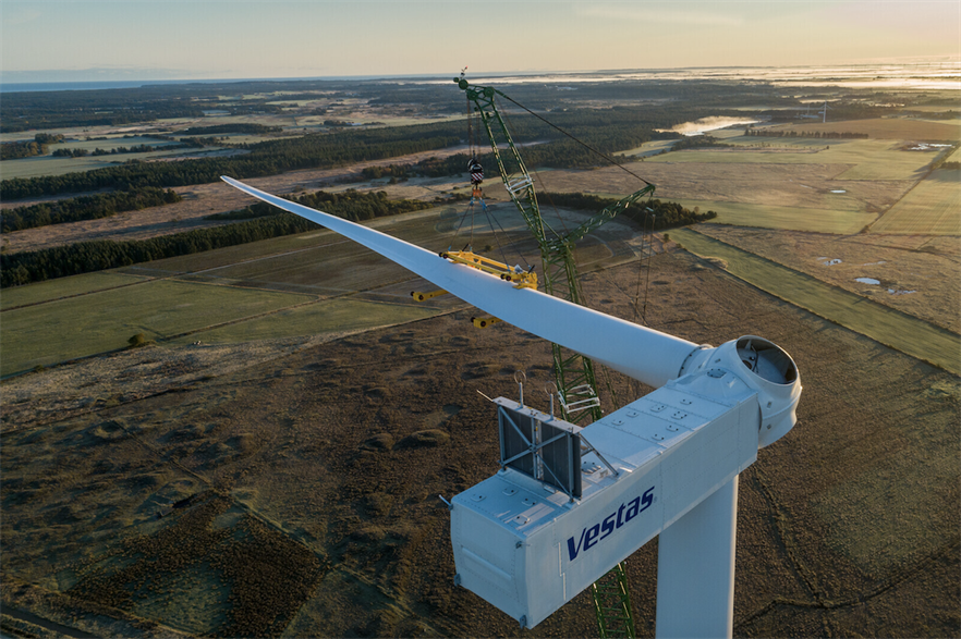 The projects will each consist of 21 of Vestas' V162-6.0 MW turbines