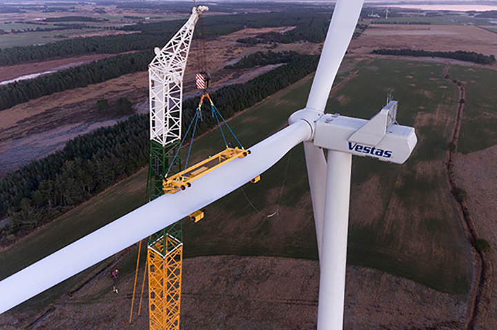Vestas' V136-3.45 turbine has previously been ordered for sites in Finland, Mexico and Italy