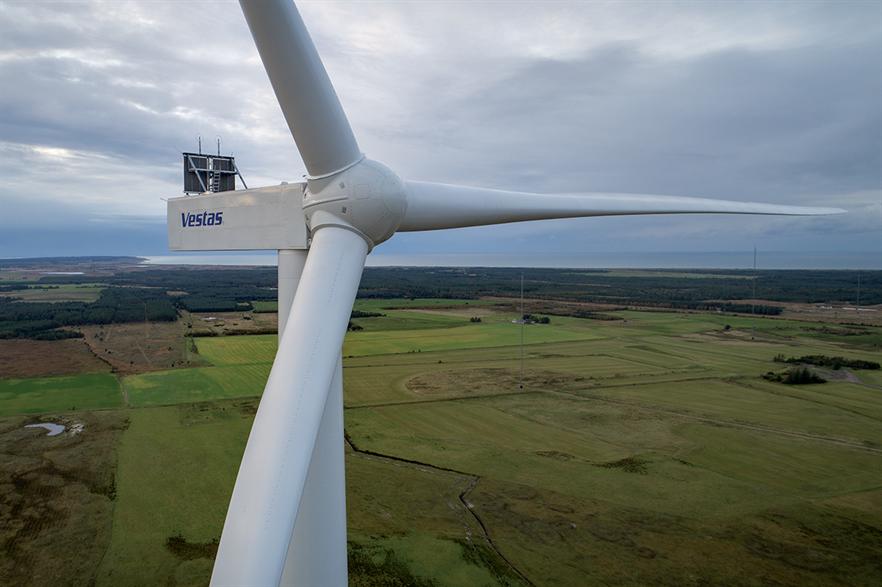 Vestas secured a big order for its V162-6.2 MW wind turbines (above) in Australia in Q3