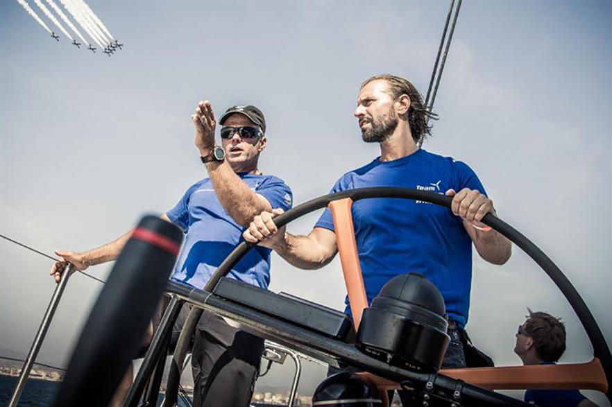 Albaek, right, on the Team Vestas Wind boat, was with Vestas since 2009