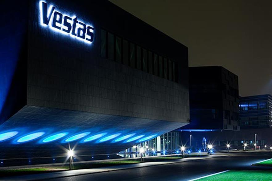 Vestas' revenues increased 13.5% in 2014
