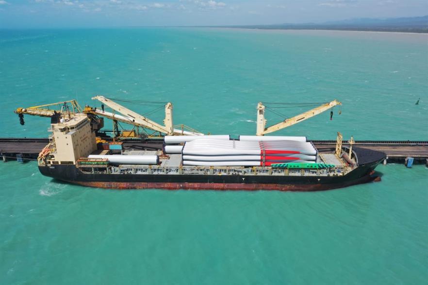 Vestas turbines were recently delivered for Isagen's Guajira I wind farm (pic credit: Ministerio de Minas y Energía)