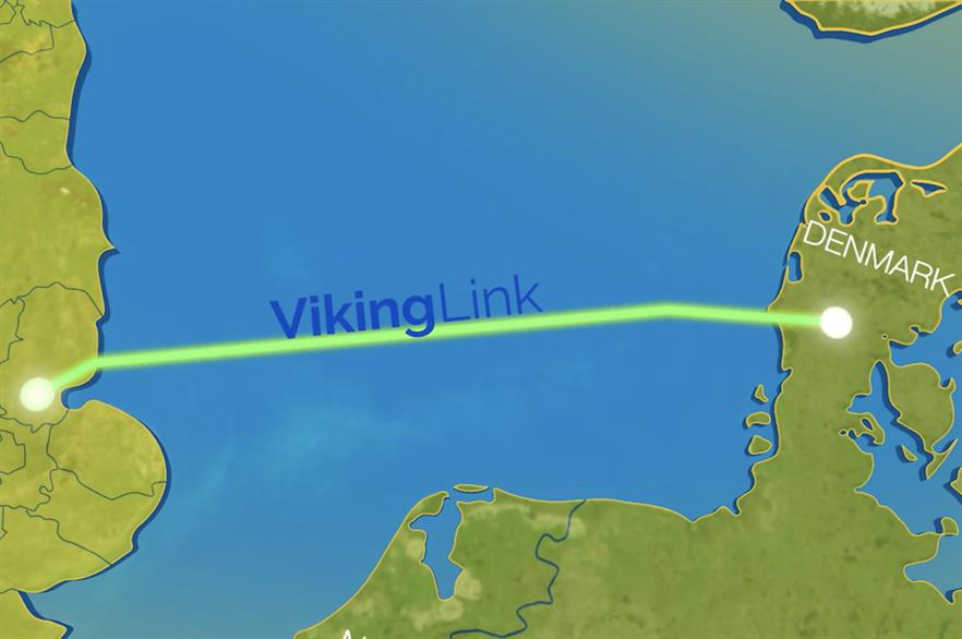 The Viking Link would stretch more than 750km between the UK and Denmark