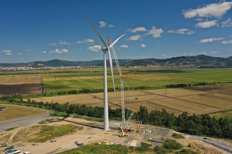 WEG's 4.2MW turbine was recently installed at a site in Tubarão, Santa Catarina