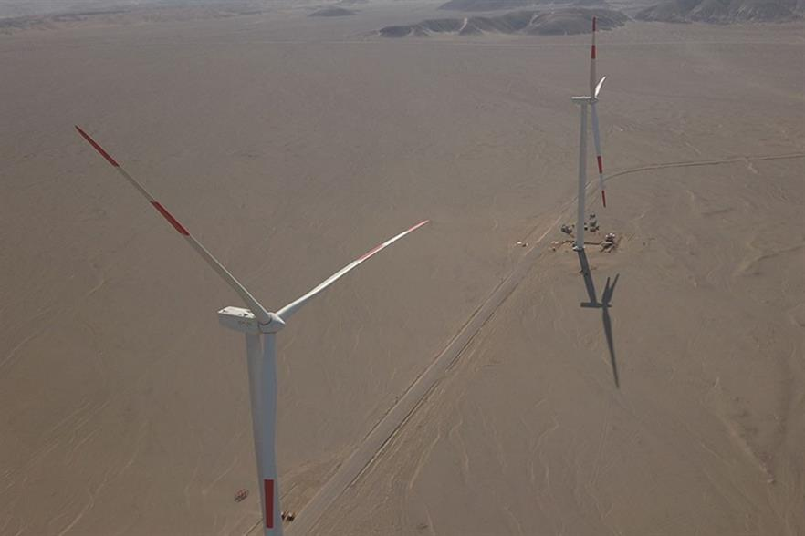 Enel installed 613MW of new wind capacity in the first nine months of the year, including the 132MW Wayra I project in Peru