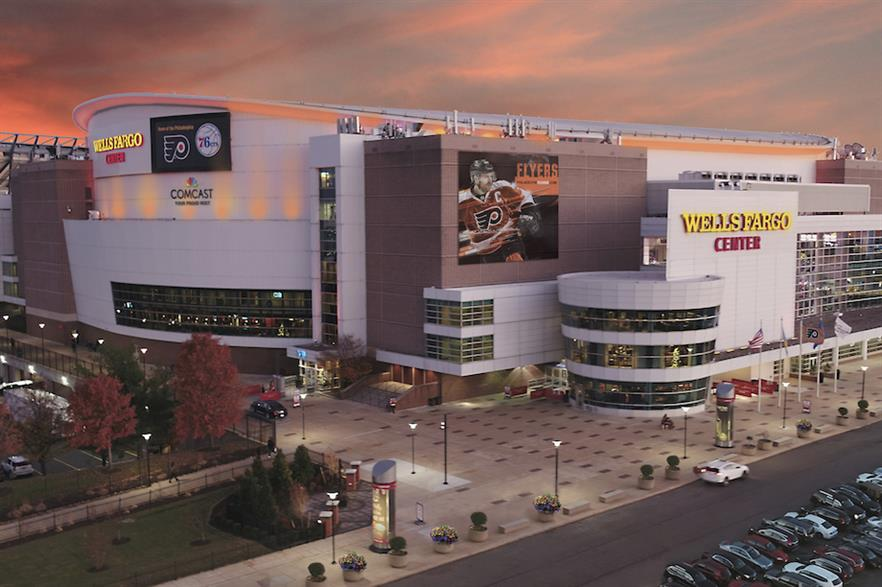 The Wells Fargo Center in Philadelphia hosts NHL and NBA games