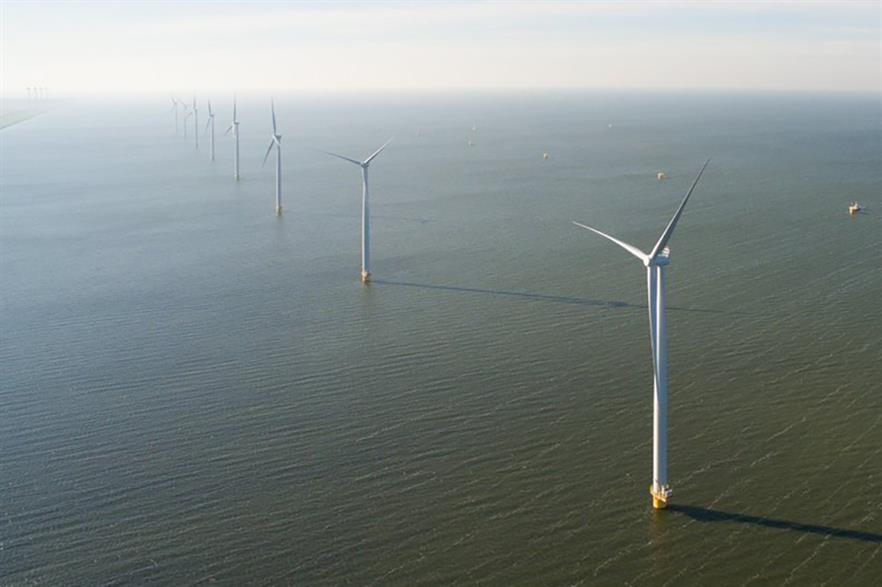 17 of 48 Siemens 3MW turbines have been installed at Westermeerwind