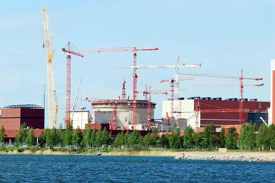 Olkiluoto 3… Construction at Finnish EPR nuclear plant started in 2005 and was scheduled to go online in 2009, but has been delayed until 2018