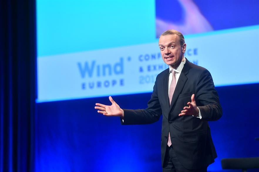 Wind Europe CEO Giles Dickson at the 2017 conference and exhibition in Amsterdam