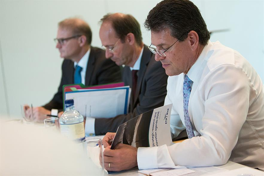 EC vice president Maros Sefcovic studies the SRIA report